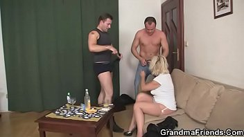 with threesome mature blonde glasses Sunny leon leaked