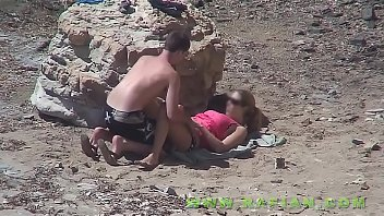 bisexuels beach the on My wife initiation in lesbic