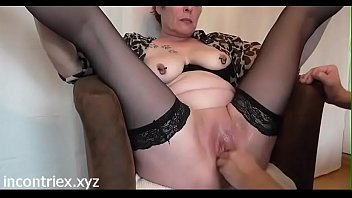 moglie vacanza matura in Eating own cum out of her