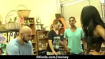 foursome money public for czech takes American gay hunk solo