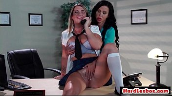forced office lesbian Thick curvy mom revers cowgirl