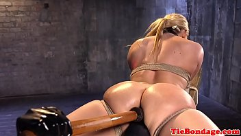 tied bareback shemale Bondage milking slave interracial