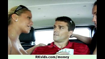 talks with money couple8 Women watches me jerk off in car