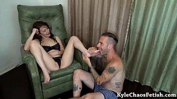 sasha worship foot laura Brazilian smother kissing