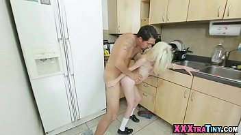 by on cum balls drips Helpful mom is giving handjob son