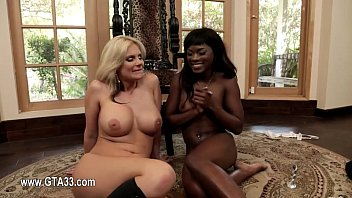 hairy extremely lesbian Ebony wet pussy licking with pissig
