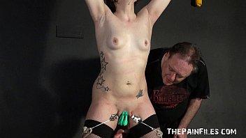 amateur slave cry Doll giving handjob