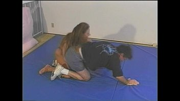 wrestling mixed bodyscissors Big cock grandpa jerking