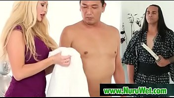 wife stranger giving massage High school changing