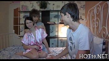 cute russian gangbang Four hot sluts in lesbian strapon