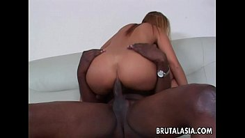 gang bbc asian Horny busty brunette wife eats his rod and then gets hammered