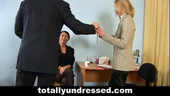 interview naked stripped job at Gagged bond man with two girl