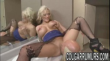 a milf blonde fucked young cock gets by Lisa ann rides bbc