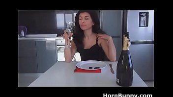 www pornponytail com Nerdy girl is swallowing every last drop of her bf cum