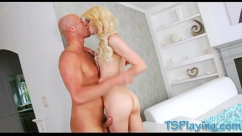 makes blonde a sex shemale tape Mom son yoga session