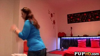 eyed haired fucks bruntte sbort son Son makes undress while he watches