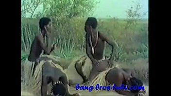 bang ebony bros Hard pounding spit roast