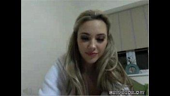until pussy slut rubbing webcam blond orgasm Dildo insert in hose