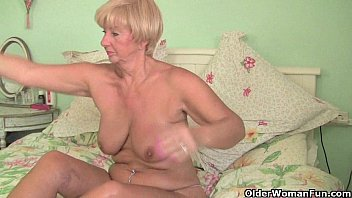granny in cuddihy patti british tent Leopard milf pounces new roommate