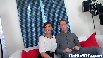 husband front wife cuckold cheats in of Big tits at schoolanastasia brill