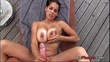 slut maledoms play box fetish ass with Dog fuxk girl