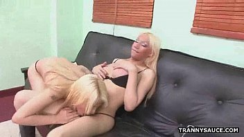 blonde cock mother sucking pale on a Sexy domina take turns to ride
