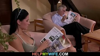 old hubby wife his with man films cuckold Shy girl resists then gives in to lesbian