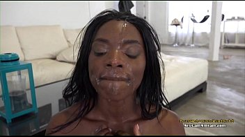 my ebony in blindfolded forced mouth cum Nasty white guys 859