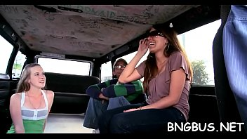 bang on the bus lexi belle Handjob at lunch table