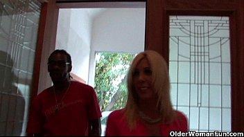 son blonde milf friend black kitchen Bbw homemade interracial blow job east texas