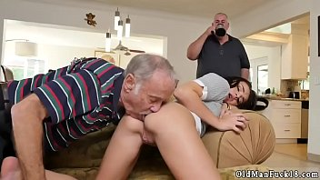real daddy dad licks my pussy young Mom rubs 2 sons cocks together