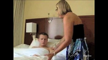 mom kitchen video at sex son Sneaking on bi men