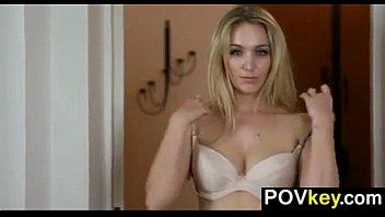 pov blonde trap Hot latina walked in on masturbarlting bye brother