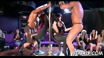 striptease onstage vintage Swinger foursome ends with cumshot