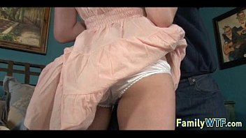 stepdad is to daughter out fuck while mom seduce Teen sucks bbc takes it deep screaming and cumming
