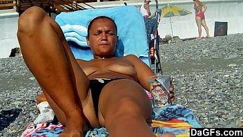 split beach couple Submitting to teacher s demand