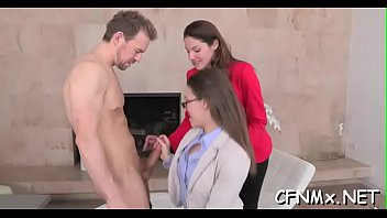 four clothed massive girls jerking a stiff cock Tommy gunn cyberskin