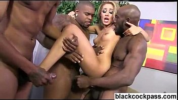 brutal 100 guys gangbang by Black couple fucking in car