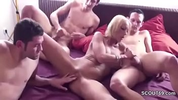 son twins and Asian business girl groped