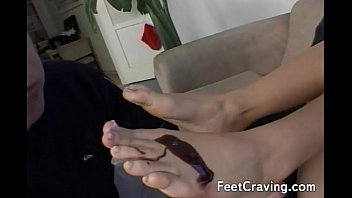 lick nylon feet Spy school boys toilet