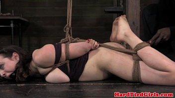 self bondage tits Closeup pussy licking for brunette lesbians