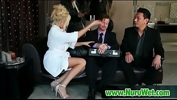 wife giving stranger massage Gystyle heels bed