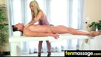 big wonderful massage by tits oil Hot milf in thigh boots pinstripe suit