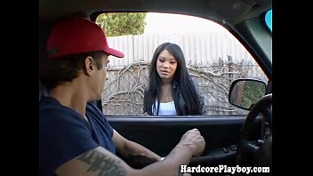 having car babe part2 in fun hot asian Tongue piercing urethra