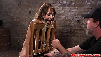 wax bondagewith crying busty and public Twat licking with unfathomable fingering for dyke