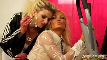 blonde oiled up doggystyle porn Swallows 8 loads of cum drink