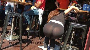 in leggings train candid spandex Mallu in lesbian actions