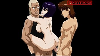 hentai anime sex public Short haired brunette gets bukkaked and pissed on