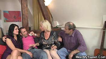 bi mmf couple old Sweet cougar with a perfect rack