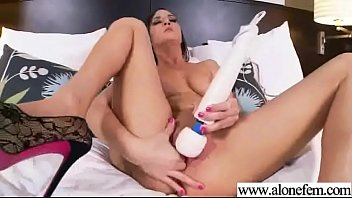 on girl pantyhose put Chubby redhead with pigtails dildo fucking herself